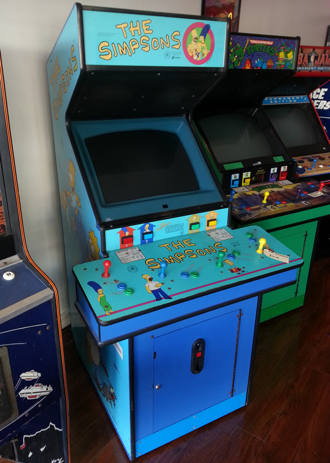 simpsons arcade machine for sale