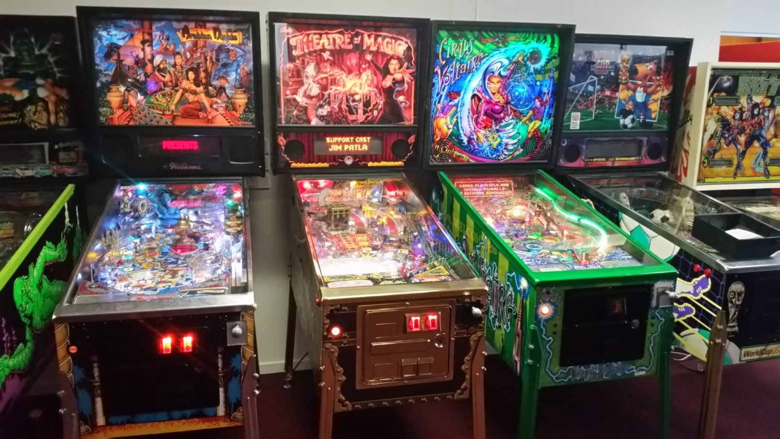 pinball machines at Arcade Classics