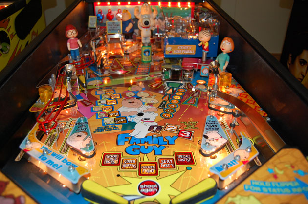 Family Guy Pinball Available Now At Arcade Classics